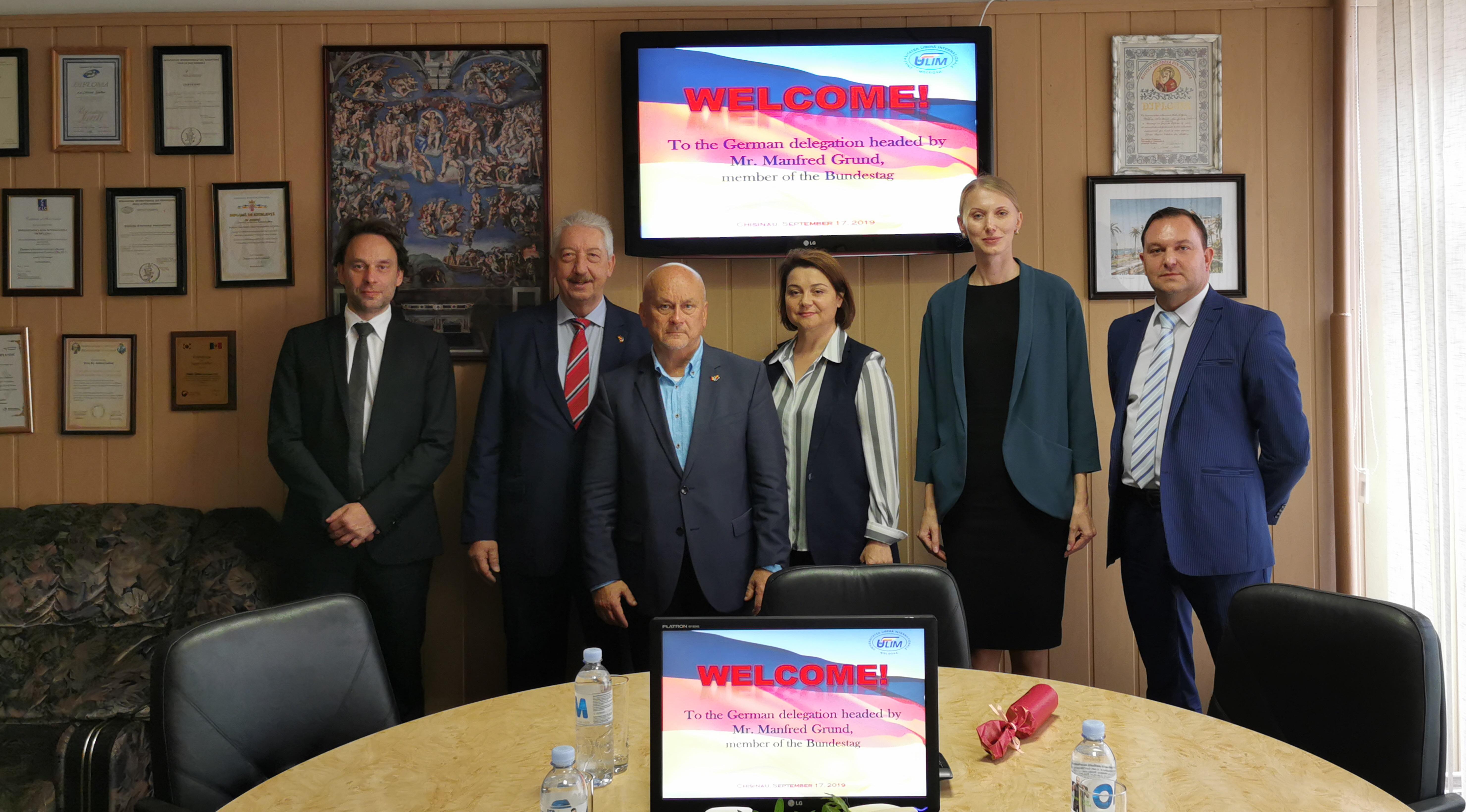 O delegație de rang înalt a Bundestagului german  în dialog cu studenții ULIM