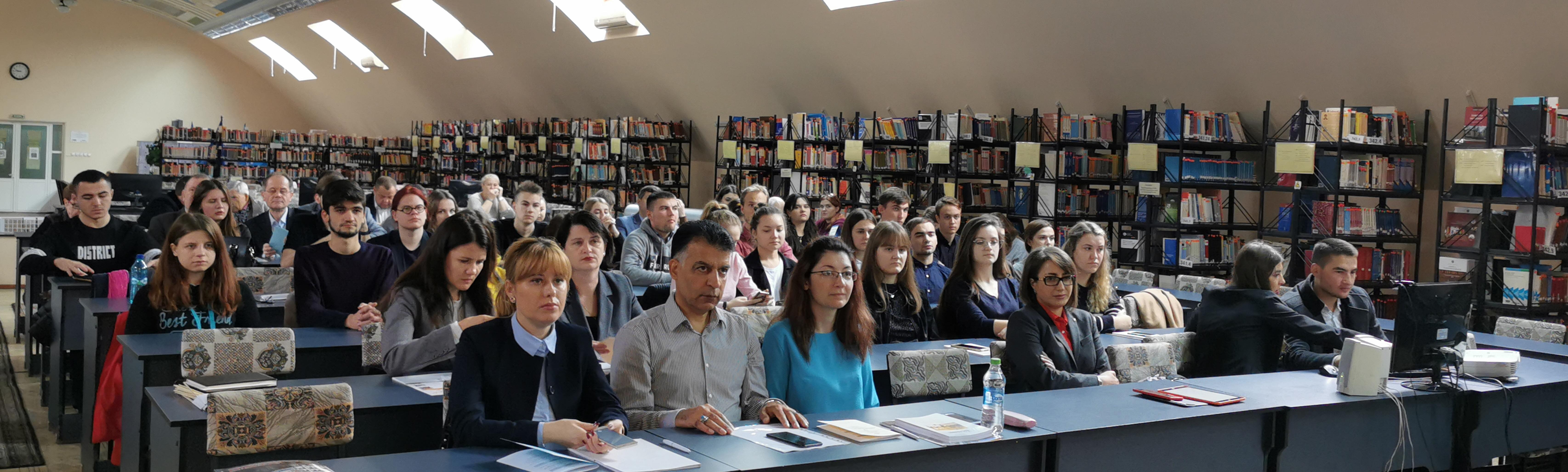 Conferințe în cadrul Școlilor Doctorale, a Facultăților și a Departamentului Informațional Biblioteconomic