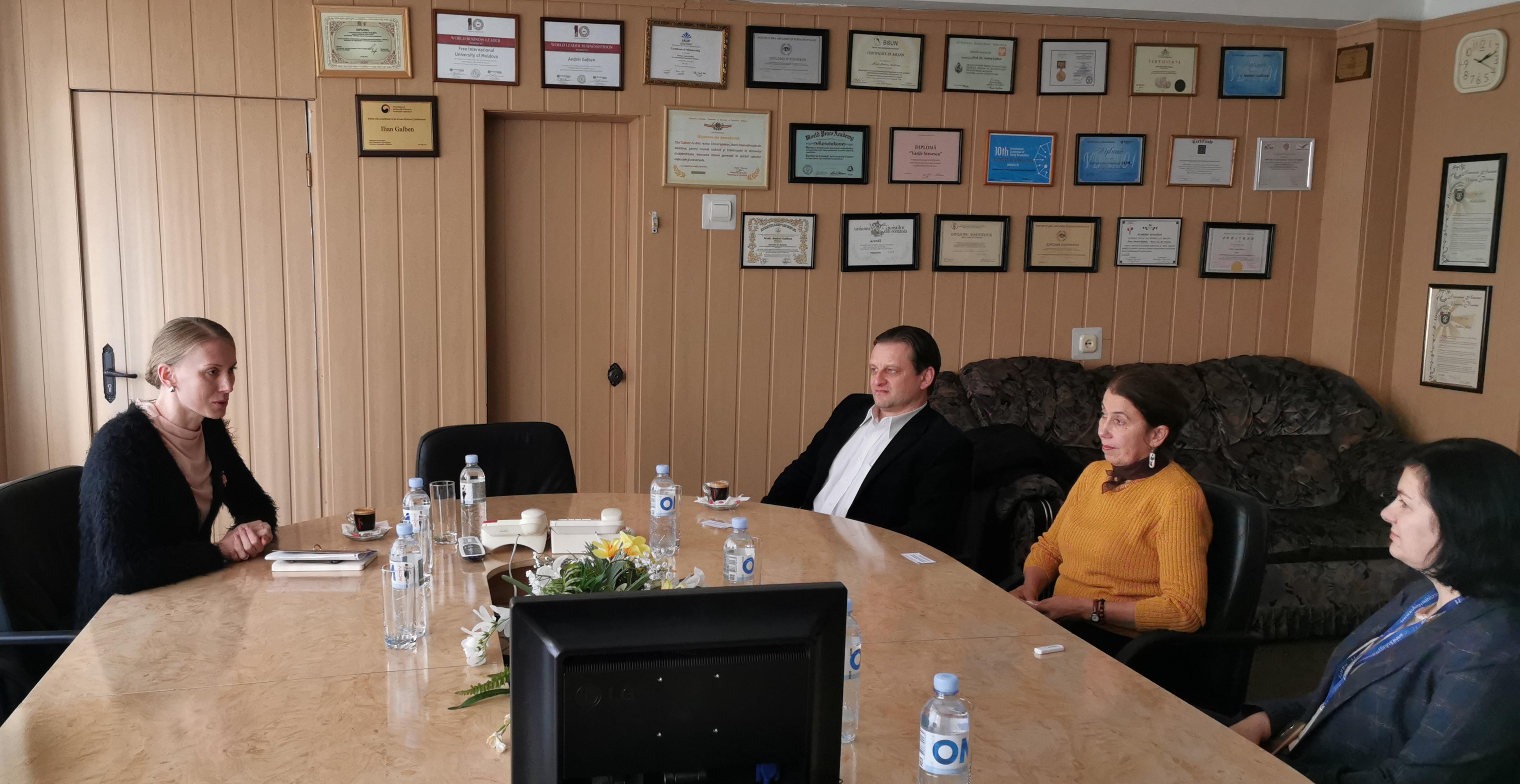 Aprofundarea relațiilor de colaborare dintre ULIM și Ambasada Ungariei în RM