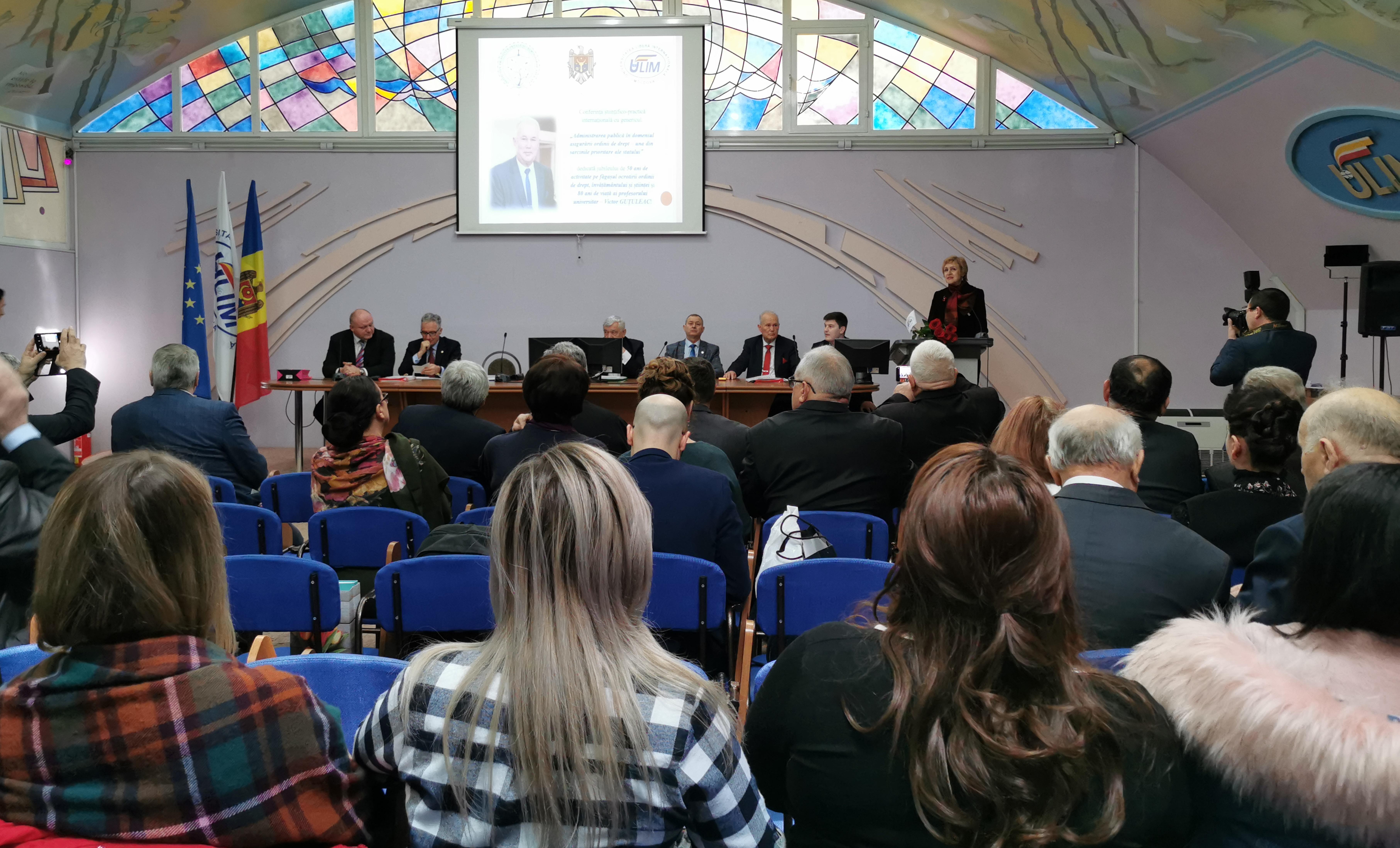 """Conferința științifico-practică internațională cu genericul: """"Administrarea publică în domeniul asigurării ordinii de drept – una din sarcinile prioritare ale statului"""""""