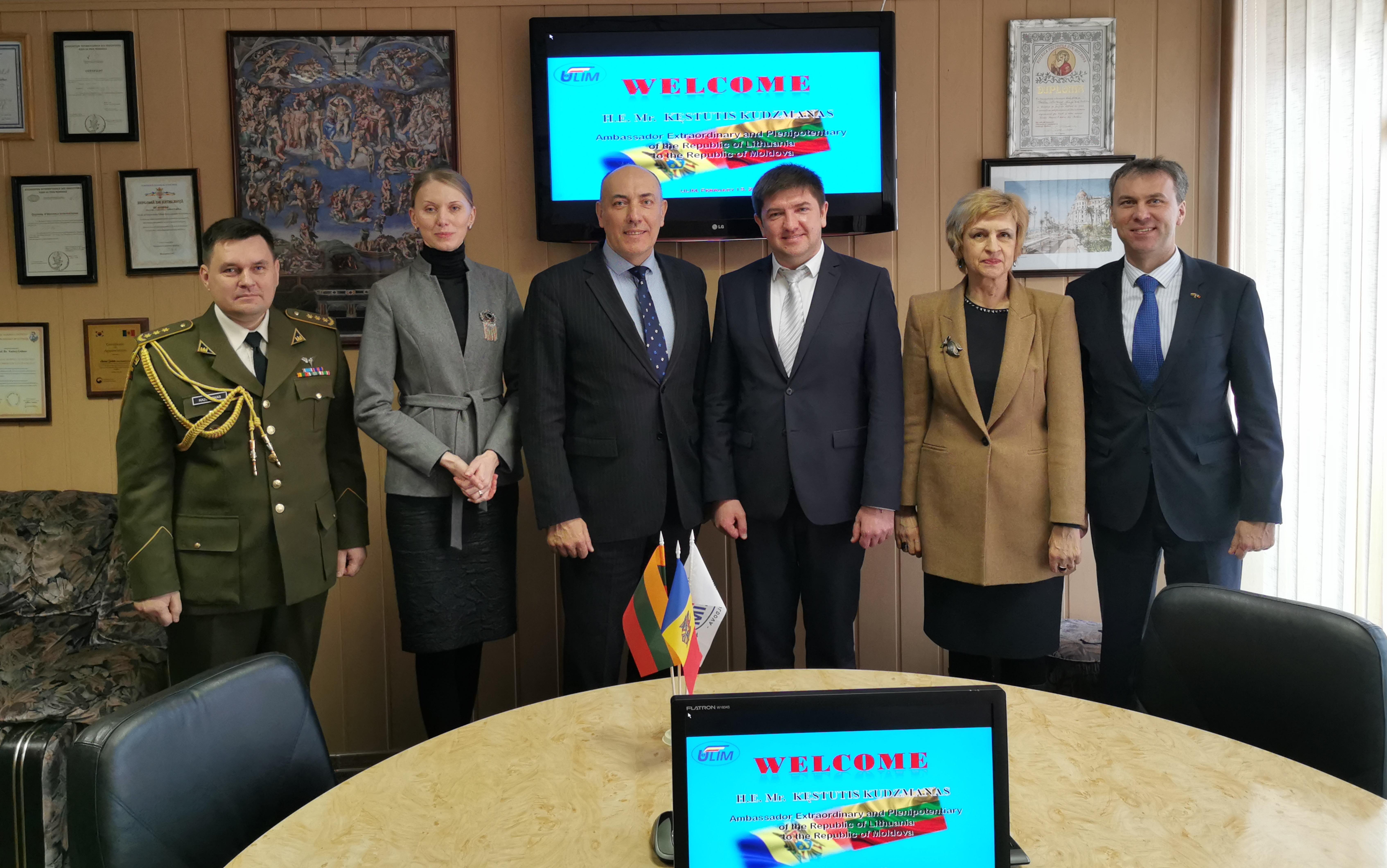 Vizita Ambasadorului Republicii Lituania la ULIM