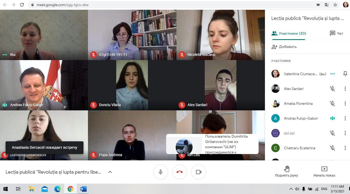 Prelegere publică cu ocazia zilei naționale a Ungariei