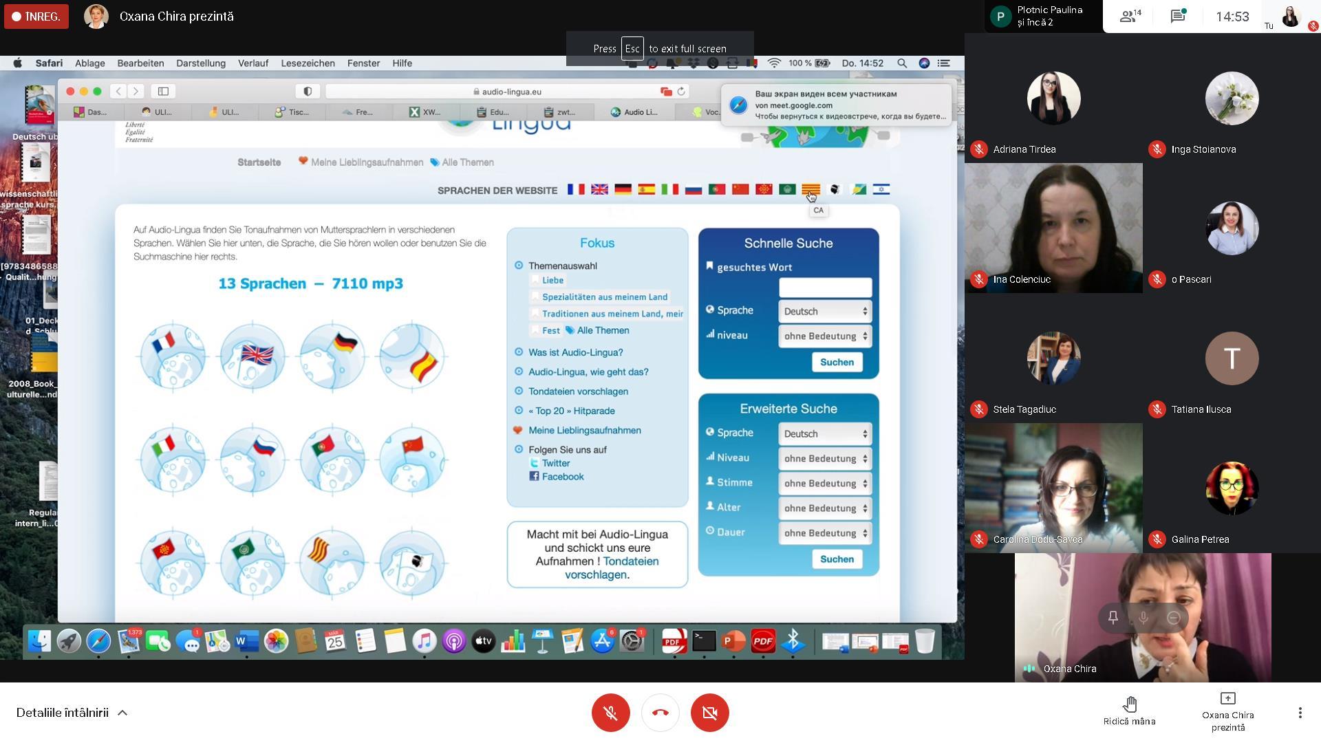 """Facultatea de Litere ULIM a organizat webinarul """"DIGITALIZAREA ȘI PROCESELE DE ÎNVĂȚARE/PREDARE/EVALUARE ȘI AUTOEVALUARE"""", prezentat de conf. univ. dr. Oxana Chira."""