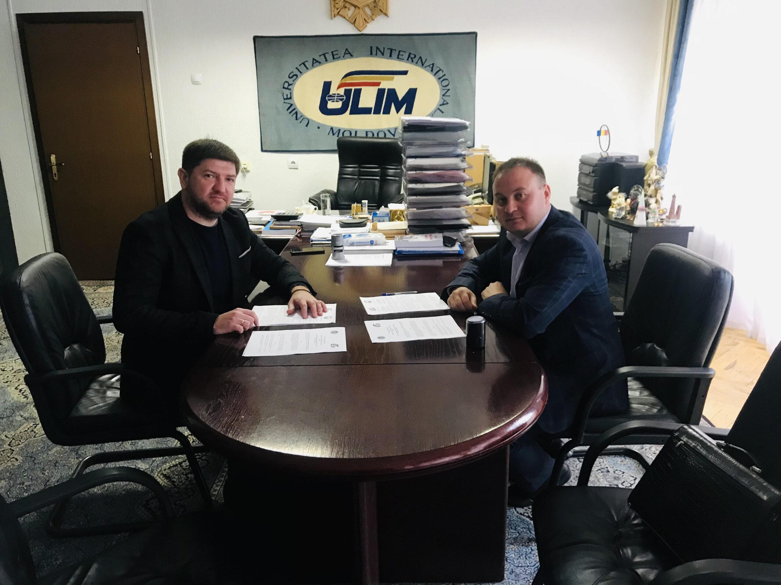 """La ULIM s-a aflat în vizită de lucru dl. Serghei Captalan, Directorul Agenției de Cooperare Transfrontalieră """"Euroregiunea Dunărea de Jos"""""""
